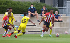 SOUTHAMPTON, ENGLAND - JULY 24: Yan Valery of Southampton during a pre-season friendly match between Southampton FC and Fulham at The Staplewood Campus on July 24, 2021 in Southampton, England. Photo by Matt Watson/Southampton FC via Getty Images