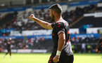 SWANSEA, WALES - JULY 31: Shane Long of Southampton during the pre-season friendly match between Swansea City and Southampton FC, at The Liberty Stadium on July 31, 2021 in Swansea, Wales. (Photo by Matt Watson/Southampton FC via Getty Images)