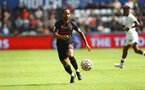 SWANSEA, WALES - JULY 31: Theo Walcott of Southampton during the pre-season friendly match between Swansea City and Southampton FC, at The Liberty Stadium on July 31, 2021 in Swansea, Wales. (Photo by Matt Watson/Southampton FC via Getty Images)