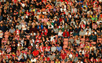 SOUTHAMPTON, ENGLAND - AUGUST 04: Southampton fans during pre-season friendly between Southampton and Levante at St Mary's Stadium on August 04, 2021 in Southampton, England. (Photo by Isabelle Field/Southampton FC via Getty Images)