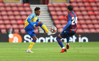 SOUTHAMPTON, ENGLAND - AUGUST 04: Kyle Walker-Peters of Southampton during the pre season friendly match between Southampton FC and Levante at St Mary's Stadium on August 04, 2021 in Southampton, England. (Photo by Matt Watson/Southampton FC via Getty Images)