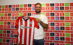 SOUTHAMPTON, ENGLAND - AUGUST 10: Southampton FC sign Adam Armstrong from Blackburn Rovers on a permanent transfer, pictured at St Mary's stadium on August 10, 2021 in Southampton, England. (Photo by Matt Watson/Southampton FC via Getty Images)