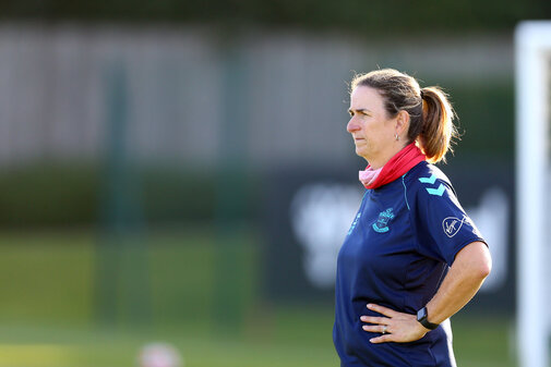 SOUTHAMPTON, ENGLAND - AUGUST 10: Marieanne Spacey-Cale during Southampton women's pre season training session at Staplewood Training Ground on August 10, 2021 in Southampton, England. (Photo by Isabelle Field/Southampton FC via Getty Images)