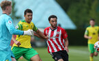 Jayden Smith. Southampton B v Norwich City U23, Premier League 2, Division 2, Staplewood Campus, Marchwood, Southampton Picture: Chris Moorhouse  Sunday 15th August 2021
