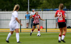 SOUTHAMPTON, ENGLAND - AUGUST 15: Catilin Morris of Southampton during the FA Women's National League Southern Premier match between Southampton Women's and MK Dons Ladies at Snow's Stadium on August 15, 2021 in Southampton, England. (Photo by Isabelle Field/Southampton FC via Getty Images)