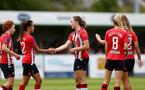 SOUTHAMPTON, ENGLAND - AUGUST 15: Lucia Kendall of Southampton celebrates opening the scoring with her team mates  during the FA Women's National League Southern Premier match between Southampton Women's and MK Dons Ladies at Snow's Stadium on August 15, 2021 in Southampton, England. (Photo by Isabelle Field/Southampton FC via Getty Images)