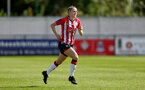 SOUTHAMPTON, ENGLAND - AUGUST 15: Ella Pusey of Southampton during the FA Women's National League Southern Premier match between Southampton Women's and MK Dons Ladies at Snow's Stadium on August 15, 2021 in Southampton, England. (Photo by Isabelle Field/Southampton FC via Getty Images)