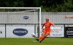 SOUTHAMPTON, ENGLAND - AUGUST 15: Kayla Rendell of Southampton  during the FA Women's National League Southern Premier match between Southampton Women's and MK Dons Ladies at Snow's Stadium on August 15, 2021 in Southampton, England. (Photo by Isabelle Field/Southampton FC via Getty Images)