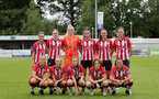 SOUTHAMPTON, ENGLAND - AUGUST 15: Southampton women ahead of the FA Women's National League Southern Premier match between Southampton Women's and MK Dons Ladies at Snow's Stadium on August 15, 2021 in Southampton, England. (Photo by Isabelle Field/Southampton FC via Getty Images)