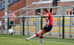 SOUTHAMPTON, ENGLAND - AUGUST 15: Ella Morris of Southampton during the FA Women's National League Southern Premier match between Southampton Women's and MK Dons Ladies at Snow's Stadium on August 15, 2021 in Southampton, England. (Photo by Isabelle Field/Southampton FC via Getty Images)