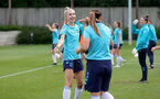 SOUTHAMPTON, ENGLAND - AUGUST 17: Phoebe Williams(L) during Southampton Women's training session at  Staplewood Training Ground on August 17, 2021 in Southampton, England. (Photo by Isabelle Field/Southampton FC via Getty Images)