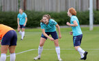 SOUTHAMPTON, ENGLAND - AUGUST 17: Ella Morris(L) and Molly Mott(R) during Southampton Women's training session at  Staplewood Training Ground on August 17, 2021 in Southampton, England. (Photo by Isabelle Field/Southampton FC via Getty Images)