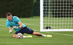 SOUTHAMPTON, ENGLAND - AUGUST 20: Fraser Forster during a Southampton FC training session at the Staplewood Campus on August 20, 2021 in Southampton, England. (Photo by Matt Watson/Southampton FC via Getty Images)