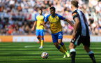 NEWCASTLE UPON TYNE, ENGLAND - AUGUST 28: Mohamed Elyounoussi of Southampton during the Premier League match between Newcastle United  and  Southampton at St. James Park on August 28, 2021 in Newcastle upon Tyne, England. (Photo by Matt Watson/Southampton FC via Getty Images)