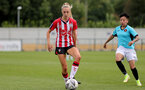 SOUTHAMPTON, ENGLAND - AUGUST 29: Phoebe Williams of Southampton during Women's National League Southern Premier match between Southampton Women and Gillingham at Snows Stadium on August 29, 2021 in Southampton, England. (Photo by Isabelle Field/Southampton FC via Getty Images)