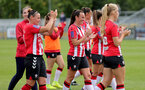 SOUTHAMPTON, ENGLAND - AUGUST 29: Southampton players applaud the supports during Women's National League Southern Premier match between Southampton Women and Gillingham at Snows Stadium on August 29, 2021 in Southampton, England. (Photo by Isabelle Field/Southampton FC via Getty Images)