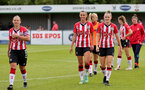 SOUTHAMPTON, ENGLAND - AUGUST 29: Shannon Sievwright(L), Laura Rafferty and Ella Pusey(R) of Southampton during Women's National League Southern Premier match between Southampton Women and Gillingham at Snows Stadium on August 29, 2021 in Southampton, England. (Photo by Isabelle Field/Southampton FC via Getty Images)