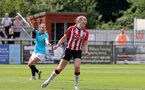 SOUTHAMPTON, ENGLAND - AUGUST 29: Ella Morris goal celebration during Women's National League Southern Premier match between Southampton Women and Gillingham at Snows Stadium on August 29, 2021 in Southampton, England. (Photo by Isabelle Field/Southampton FC via Getty Images)