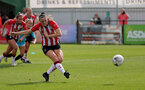 SOUTHAMPTON, ENGLAND - AUGUST 29: Ella Pusey of Southampton during Women's National League Southern Premier match between Southampton Women and Gillingham at Snows Stadium on August 29, 2021 in Southampton, England. (Photo by Isabelle Field/Southampton FC via Getty Images)