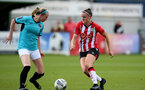 SOUTHAMPTON, ENGLAND - AUGUST 29: Ella Puse(L) of Southampton during Women's National League Southern Premier match between Southampton Women and Gillingham at Snows Stadium on August 29, 2021 in Southampton, England. (Photo by Isabelle Field/Southampton FC via Getty Images)