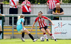 SOUTHAMPTON, ENGLAND - AUGUST 29: Ella Pusey(R) of Southampton during Women's National League Southern Premier match between Southampton Women and Gillingham at Snows Stadium on August 29, 2021 in Southampton, England. (Photo by Isabelle Field/Southampton FC via Getty Images)
