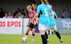 SOUTHAMPTON, ENGLAND - AUGUST 29: Katie Rood(L) of Southampton during Women's National League Southern Premier match between Southampton Women and Gillingham at Snows Stadium on August 29, 2021 in Southampton, England. (Photo by Isabelle Field/Southampton FC via Getty Images)