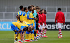 BOREHAMWOOD, ENGLAND - SEPTEMBER 02: Southampton players during the Premier League Cup match between Arsenal and Southampton B Team at Meadow Park on September 02, 2021 in Borehamwood, England. (Photo by Isabelle Field/Southampton FC )