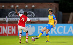 BOREHAMWOOD, ENGLAND - SEPTEMBER 02: Will Tizzard of Southampton during the Premier League Cup match between Arsenal and Southampton B Team at Meadow Park on September 02, 2021 in Borehamwood, England. (Photo by Isabelle Field/Southampton FC )