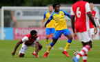 BOREHAMWOOD, ENGLAND - SEPTEMBER 02: Kegs Chauke of Southampton during the Premier League Cup match between Arsenal and Southampton B Team at Meadow Park on September 02, 2021 in Borehamwood, England. (Photo by Isabelle Field/Southampton FC )