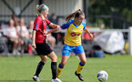 MIDDLESEX, ENGLAND - SEPTEMBER 05: Sophia Pharoah (R) of Southampton during the Women's National League Southern Premier match between Hounslow and Southampton Women at Rectory Meadow on September 05, 2021 in Middlesex, England. (Photo by Isabelle Field/Southampton FC via Getty Images)