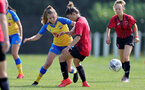 MIDDLESEX, ENGLAND - SEPTEMBER 05: Alisha Ware(L) of Southampton during the Women's National League Southern Premier match between Hounslow and Southampton Women at Rectory Meadow on September 05, 2021 in Middlesex, England. (Photo by Isabelle Field/Southampton FC via Getty Images)