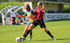 MIDDLESEX, ENGLAND - SEPTEMBER 05: Ciara Watling(L) of Southampton during the Women's National League Southern Premier match between Hounslow and Southampton Women at Rectory Meadow on September 05, 2021 in Middlesex, England. (Photo by Isabelle Field/Southampton FC via Getty Images)