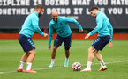 SOUTHAMPTON, ENGLAND - SEPTEMBER 09: Nathan Redmond(centre) during a Southampton FC training session at the Staplewood Campus on September 09, 2021 in Southampton, England. (Photo by Matt Watson/Southampton FC via Getty Images)