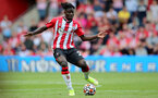 SOUTHAMPTON, ENGLAND - SEPTEMBER 11: Mohammed Salisu of Southampton during the Premier League match between Southampton  and  West Ham United at St Mary's Stadium on September 11, 2021 in Southampton, England. (Photo by Isabelle Field/Southampton FC via Getty Images)