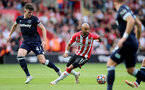 SOUTHAMPTON, ENGLAND - SEPTEMBER 11: Nathan Redmond of Southampton during the Premier League match between Southampton  and  West Ham United at St Mary's Stadium on September 11, 2021 in Southampton, England. (Photo by Isabelle Field/Southampton FC via Getty Images)