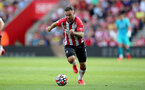 SOUTHAMPTON, ENGLAND - SEPTEMBER 11: Adam Armstrong of Southampton during the Premier League match between Southampton  and  West Ham United at St Mary's Stadium on September 11, 2021 in Southampton, England. (Photo by Isabelle Field/Southampton FC via Getty Images)