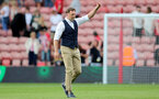 SOUTHAMPTON, ENGLAND - SEPTEMBER 11: Ralph Hasenhuttl Southampton manager during the Premier League match between Southampton  and  West Ham United at St Mary's Stadium on September 11, 2021 in Southampton, England. (Photo by Isabelle Field/Southampton FC via Getty Images)