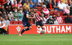 SOUTHAMPTON, ENGLAND - SEPTEMBER 11: Adam Armstrong of Southampton during the Premier League match between Southampton  and  West Ham United at St Mary's Stadium on September 11, 2021 in Southampton, England. (Photo by Matt Watson/Southampton FC via Getty Images)
