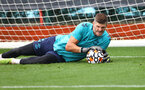 SOUTHAMPTON, ENGLAND - SEPTEMBER 14: Fraser Forster during a Southampton FC training session at the Staplewood Campus on September 14, 2021 in Southampton, England. (Photo by Matt Watson/Southampton FC via Getty Images)