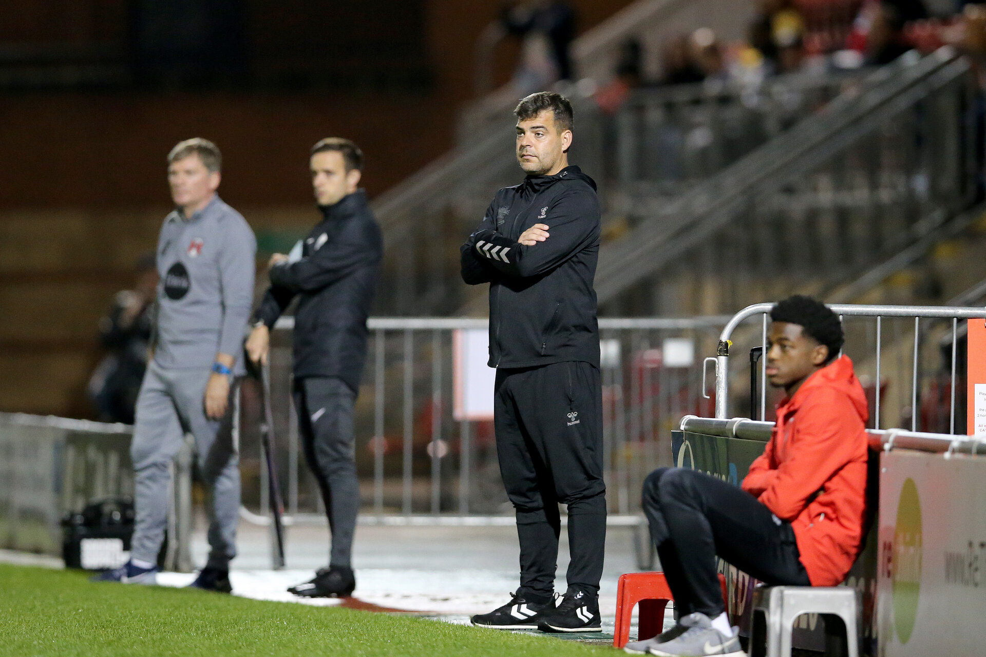LONDON, ENGLAND - SEPTEMBER 14: Dave Horseman Southampton B team coach during the Papa John's Trophy match between Leyton Orient and Southampton B Team at Breyer Group Stadium on September 14, 2021 in London, England. (Photo by Isabelle Field/Southampton FC via Getty Images)