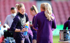 SOUTHAMPTON, ENGLAND - SEPTEMBER 16: Ellen White(L) during England Women's training session at St Mary's Stadium on September 16, 2021 in Southampton, England. (Photo by Isabelle Field/Southampton FC via Getty Images)