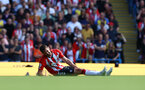 MANCHESTER, ENGLAND - SEPTEMBER 18: Jack Stephens of Southampton in pain after picking up an injury during the Premier League match between Manchester City and Southampton at Etihad Stadium on September 18, 2021 in Manchester, England. (Photo by Matt Watson/Southampton FC via Getty Images)