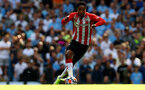 MANCHESTER, ENGLAND - SEPTEMBER 18: Kyle Walker-Peters of Southampton during the Premier League match between Manchester City and Southampton at Etihad Stadium on September 18, 2021 in Manchester, England. (Photo by Matt Watson/Southampton FC via Getty Images)
