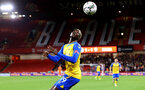 SHEFFIELD, ENGLAND - SEPTEMBER 21: Moussa Djenepo of Southampton during the Carabao Cup Third Round match between Sheffield United and Southampton at Bramall Lane on September 21, 2021 in Sheffield, England. (Photo by Matt Watson/Southampton FC via Getty Images)