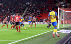 SHEFFIELD, ENGLAND - SEPTEMBER 21: Mohammed Salisu of Southampton scores to make it 2-1 during the Carabao Cup Third Round match between Sheffield United and Southampton at Bramall Lane on September 21, 2021 in Sheffield, England. (Photo by Matt Watson/Southampton FC via Getty Images)