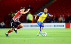 SHEFFIELD, ENGLAND - SEPTEMBER 21: Nathan Redmond of Southampton during the Carabao Cup Third Round match between Sheffield United and Southampton at Bramall Lane on September 21, 2021 in Sheffield, England. (Photo by Matt Watson/Southampton FC via Getty Images)