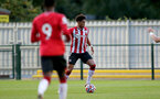SOUTHAMPTON, ENGLAND - SEPTEMBER 23: Oludare Olufunwa of Southampton during the Premier League Cup match between Southampton B Team and West Bromwich Albion at Snows Stadium on September 23, 2021 in Southampton, England. (Photo by Isabelle Field/Southampton FC via Getty Images)