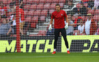 SOUTHAMPTON, ENGLAND - SEPTEMBER 26: Alex McCarthy of Southampton warms up ahead of the Premier League match between Southampton and Wolverhampton Wanderers at St Mary's Stadium on September 26, 2021 in Southampton, England. (Photo by Matt Watson/Southampton FC via Getty Images)