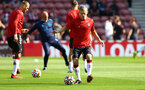 SOUTHAMPTON, ENGLAND - SEPTEMBER 26: James Ward-Prowse of Southampton warms up ahead of the Premier League match between Southampton and Wolverhampton Wanderers at St Mary's Stadium on September 26, 2021 in Southampton, England. (Photo by Matt Watson/Southampton FC via Getty Images)