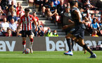 SOUTHAMPTON, ENGLAND - SEPTEMBER 26: Tino Livramento of Southampton shoots at goal during the Premier League match between Southampton and Wolverhampton Wanderers at St Mary's Stadium on September 26, 2021 in Southampton, England. (Photo by Matt Watson/Southampton FC via Getty Images)